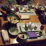 お食事処での夕食の始まり