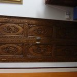 Showing detail of part of the furniture