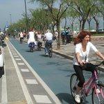 Gita in bici sul lungomare