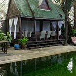 The hut beside the pool