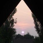 Coucher de soleil vu de la chambre
