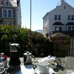 Breakfast on the terrace with a the sea just in view