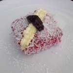 Lamington Pastry - First Stop on Tour