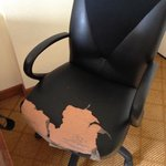 torn up chair