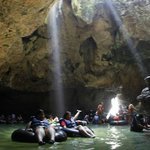 a part of inside pindul cave