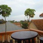 Uitzicht vanuit het guesthouse