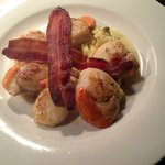 Scallops, Pancetta and cauliflower
