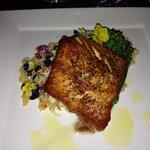 Honey Glazed Salmon with Black Bean Risotta Salad