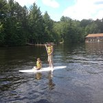 We rented stand up paddle boards for the week from a local shop.