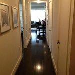 Hallway from bedrooms