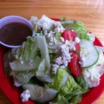 Tasty Side Salad with blue cheese
