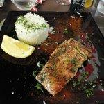 My salmon and rice dish