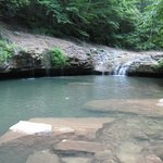 Cool refreshing pool and waterfall at the bottom of the canyon!