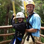 Fun zipping with dad!