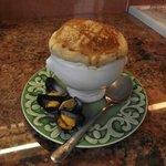 crème de moule de Bouchot en cocotte