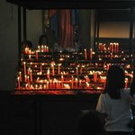 Great image of candles lit for their faith
