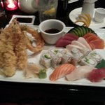 Dinner Combo A1:Sushi-Sashimi-Shrimp & Vegetable Tempura