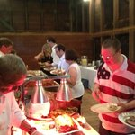 Wedding Buffet at Tinicum Barn