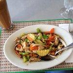 Hot-Basil with Pork & Thai Iced-Coffee