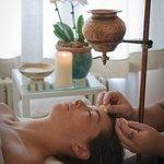 Ayurvedic treatment at the spa