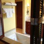 Bathroom tub from bedroom
