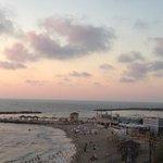 beach as sun was setting