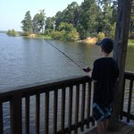 Fishing off the dock/pier