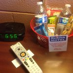 complimentary in-room snack basket