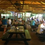 Scaturo's outdoor covered dining room