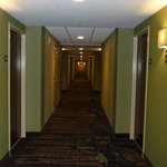 Hallway outside of rooms