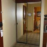 Double mirror on closet doors
