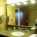 Bathroom, loved the makeup mirror