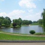 Lake with walking trail