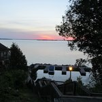 sunset view of the St Lawrence River from the grounds of West Winds!
