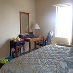 Queen Bed & Desk Area in our room #304