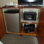 Fridge, Microwave & Safe in our room #304