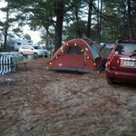 Our tent & camp site