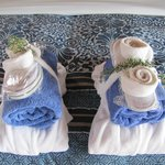 fresh lavender with our robes and towels
