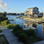 View out the back of Kiteclub Hatteras, dock