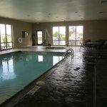 Warm, heated pool