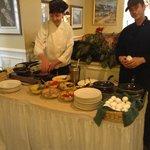 Omelette Bar in Hotel Dining Room