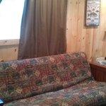 sofa in cabin 4