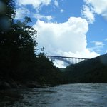 New River Gorge Bridge upon approach