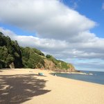 the view over Blackpool sands