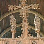 Crucifix with  quatrefoils'