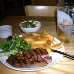 Hereford steak and Hereford cider