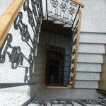 Escaleras para llegar a la habitación