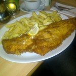 Jumbo fish and chips - delicious!