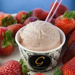 Strawberry Miso Gelato