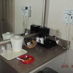 coffee maker area